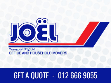 Joel Transport (Pty) Ltd - We are a relocation company, specializing in office and household relocation since 1965. We are in Pretoria, Gauteng and Pinetown, KZN. We also offer storage, packing and transit insurance, clearing and forwarding for sea and airfreight.